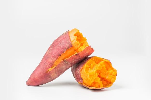 Pyszne gotowane słodkich ziemniaków