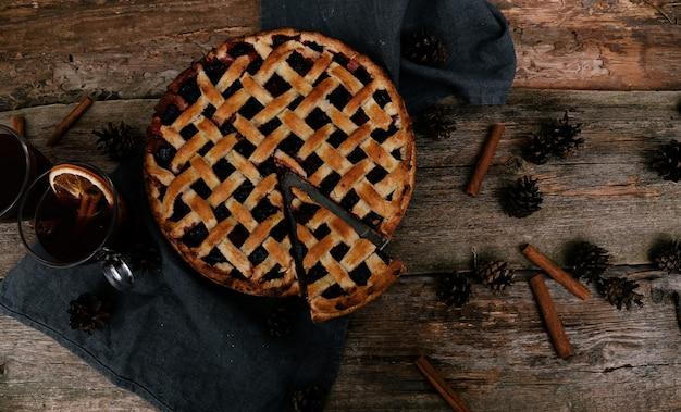 Pyszne, jagodowe ciasto