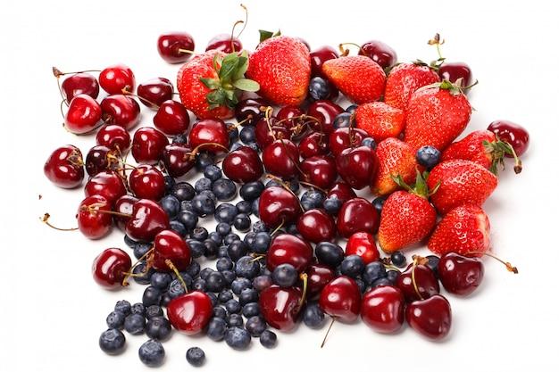 Pyszne jagody na stole
