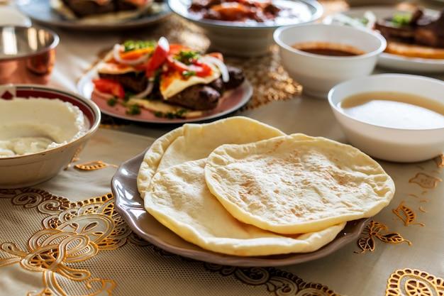 Pyszne jedzenie na święto ramadanu