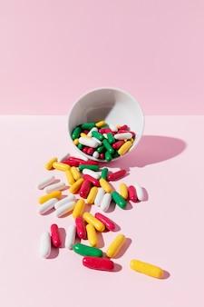 Pyszne kolorowe słodycze o długich kształtach