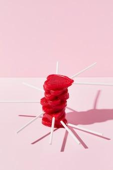 Pyszne słodycze w kształcie serca