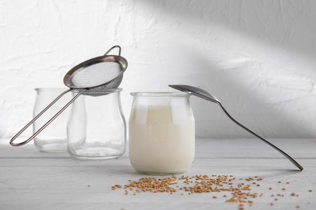 Pyszny asortyment produktów mlecznych