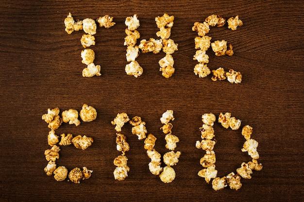 Pyszny popcorn, fraza końcowa