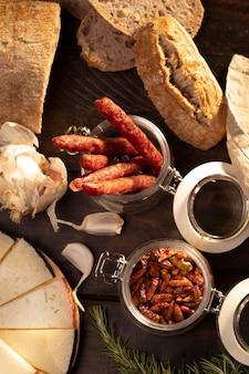 Pyszny, tradycyjny asortyment chorizo