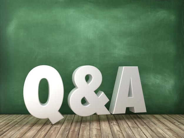 Pytania i odpowiedzi słowo 3d na tle tablicy