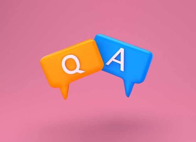 Pytanie i odpowiedź bubble speech minimalna koncepcja