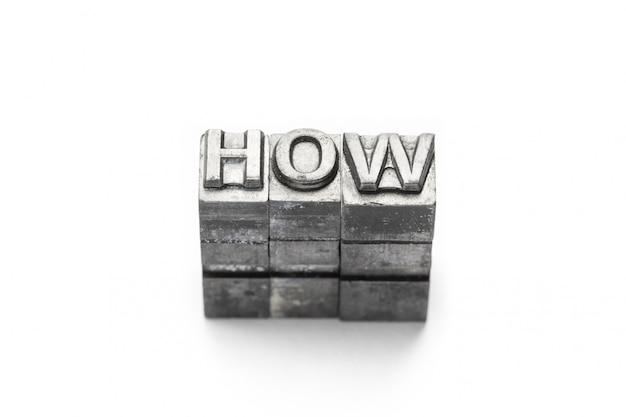 Pytanie słowo jak, typografia,
