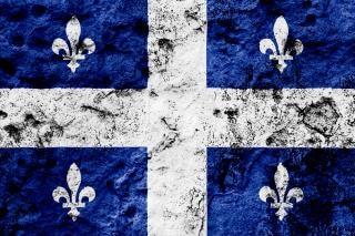 Quebec grunge flag niebieski
