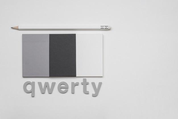 Qwerty słowo i gradient wizytówki firmowe