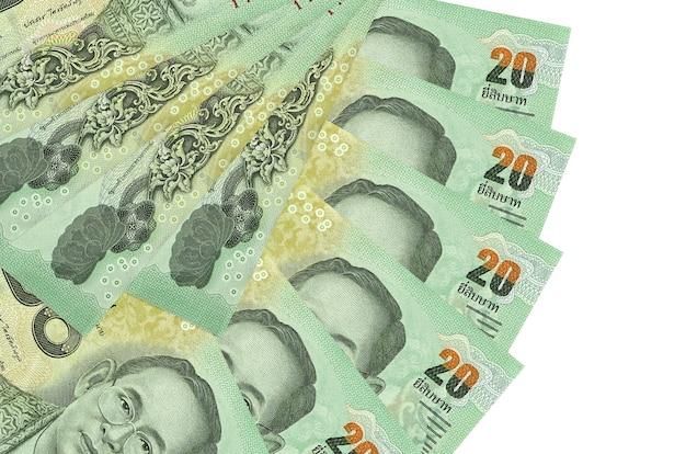 Rachunki bahtów tajskich r. na białej powierzchni