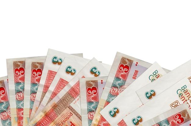 Rachunki wymienialne peso kubańskie leży w dolnej części ekranu na białym