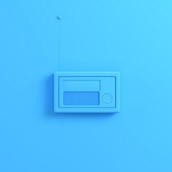 Radio na jasnoniebieskim tle
