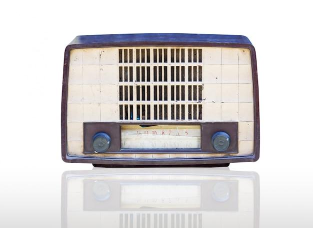 Radio vintage izolowane