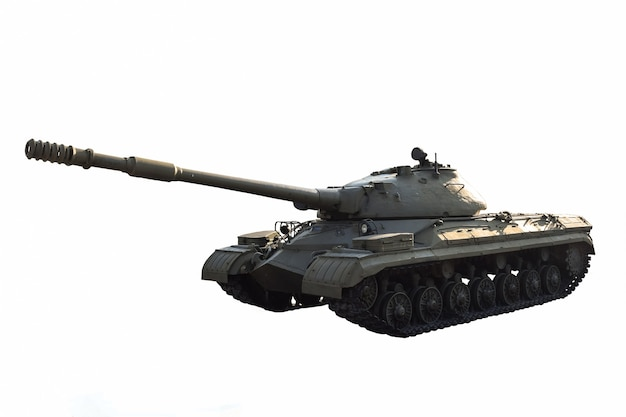 Radziecki czołg ciężki bez znaków identyfikacyjnych na białym tle