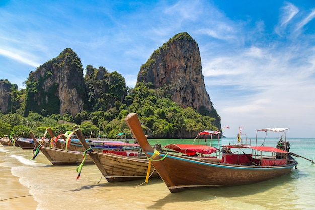 Railay beach w krabi, tajlandia