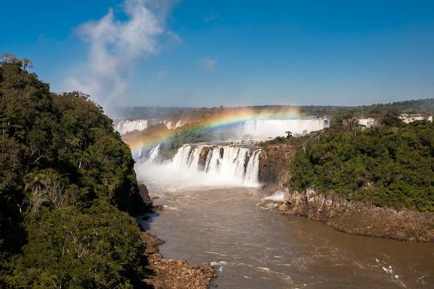 Rainbow w iguazu spada park narodowy