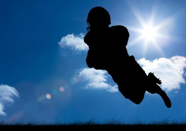 Raindrops podpisać ruchu futbolu amerykańskiego trawę