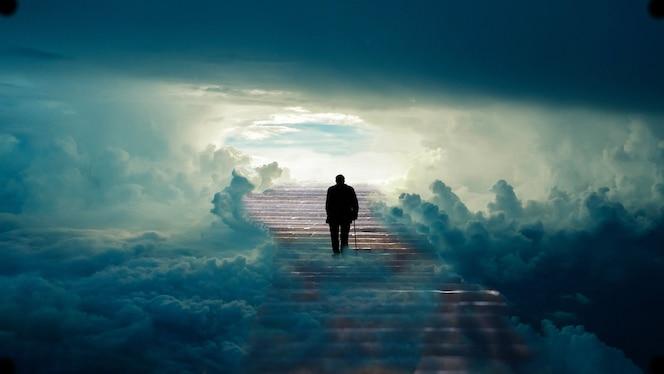 Raj człowieka schody. schody do nieba