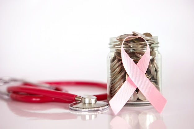 Rak piersi ubezpieczenie zdrowotne i oszczędność pieniędzy dla koncepcji ubezpieczenia medycznej choroby opieki zdrowotnej