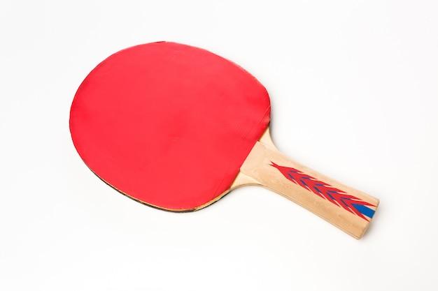 Rakieta do tenisa stołowego na białym tle