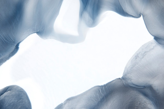 Rama abstrakcyjne tło dymu, niebieski projekt tekstury