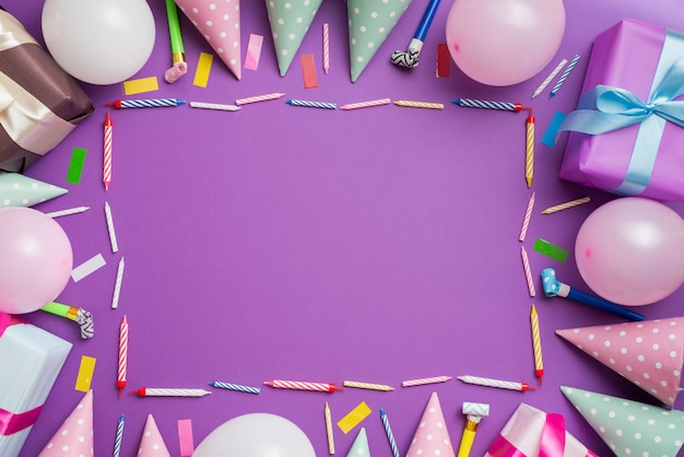 Rama elementów urodziny
