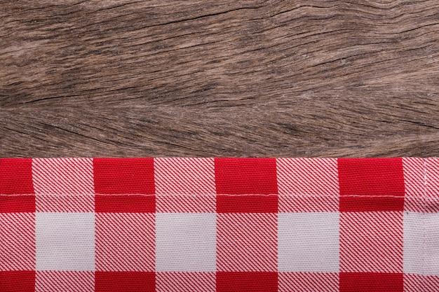 Rama ręczników kuchennych. na drewniane tekstury.