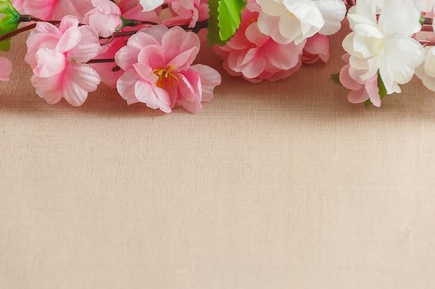Rama tło wiosna kwiaty
