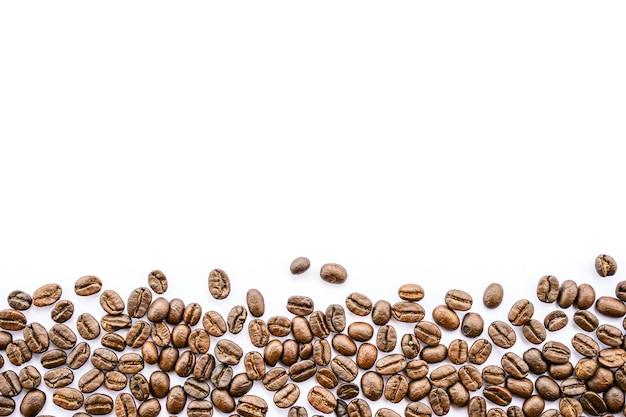 Rama widok z góry ziaren kawy