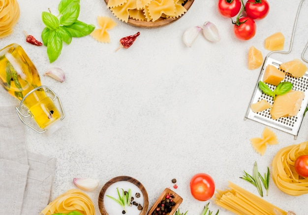 Rama włoskich składników żywności