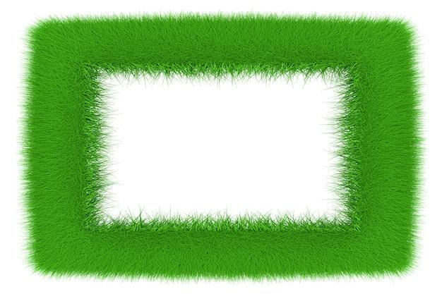 Rama wykonana z rosnącej trawy. ilustracja 3d.