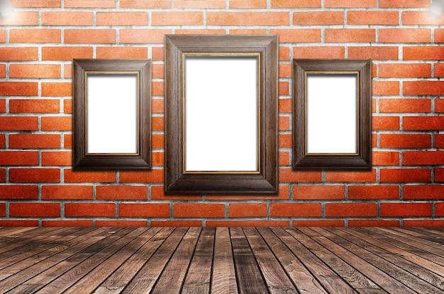 Ramka Na Zdjęcia Jest Dostępna Na ścianach Cementu Premium Zdjęcia