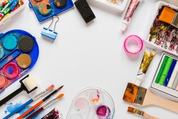 Ramka narzędzi do malowania artysty