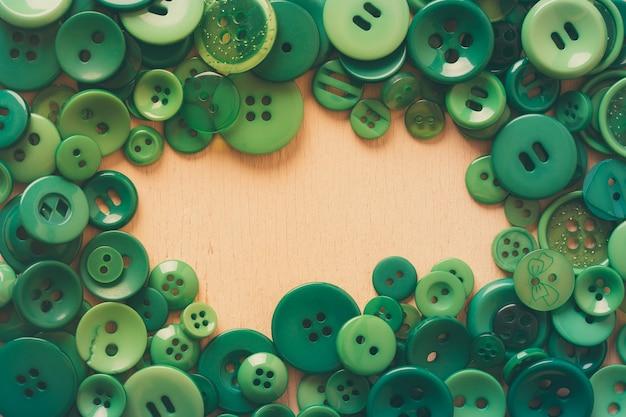 Ramka przycisku zielona z miejscem na kopię w środku