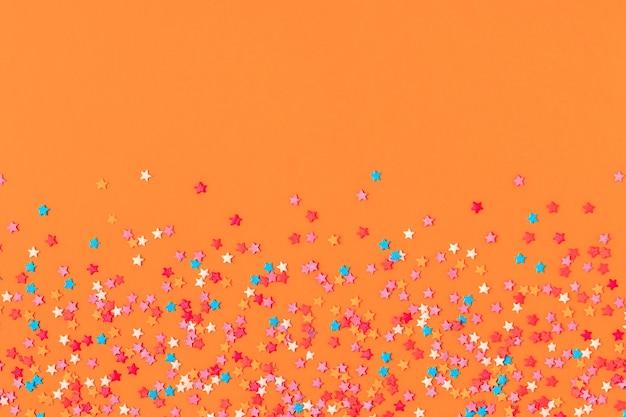 Ramka wykonana z słodkiego konfetti