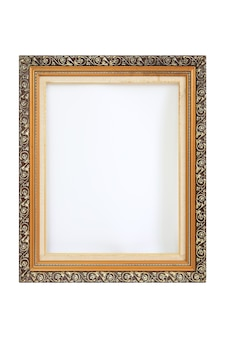 Ramki na zdjęcia archiwalne na białym tle. obraz ze ścieżką przycinającą