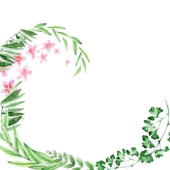 Ramki z kwiatów akwarelowych w różnych formatach