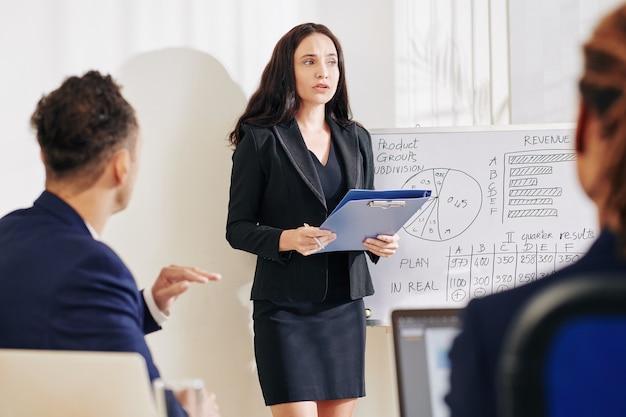 Raport o czytaniu businesswoma