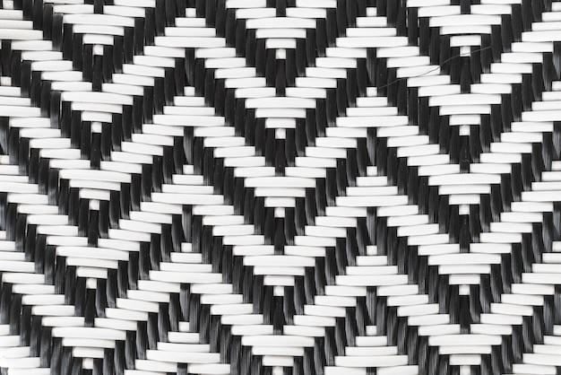 Rattan czarno-białe tło.