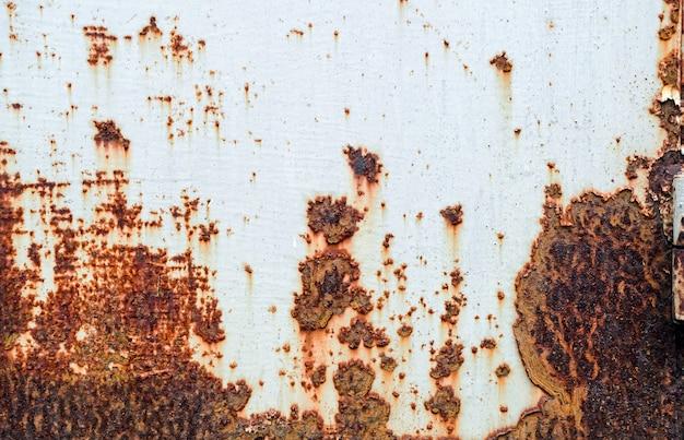 Rdza metalikorodująca rdza na starym żelazie biały użyj jako ilustracji do prezentacji