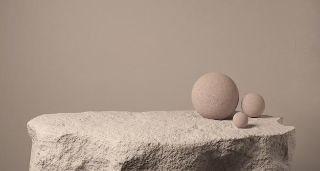 Realistyczne kamienne podium