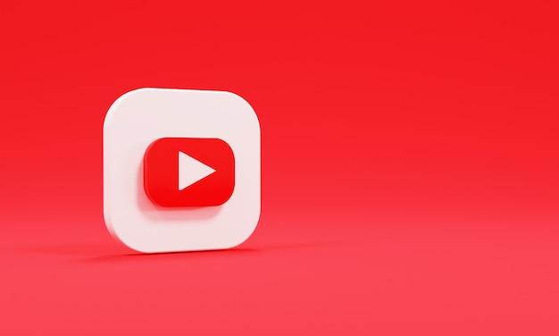 Realistyczne logo renderowania 3d youtube