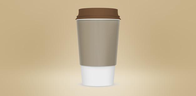 Realistyczne papierowe kubki do kawy