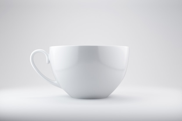 Realistyczne puste kubki na kawę lub herbatę z uchwytem