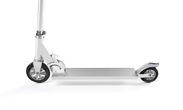 Realistyczne renderowanie 3d skutera na białym tle