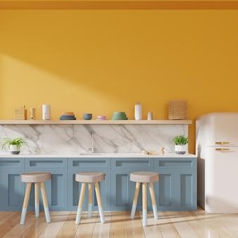 Realistyczne wnętrze kuchni.