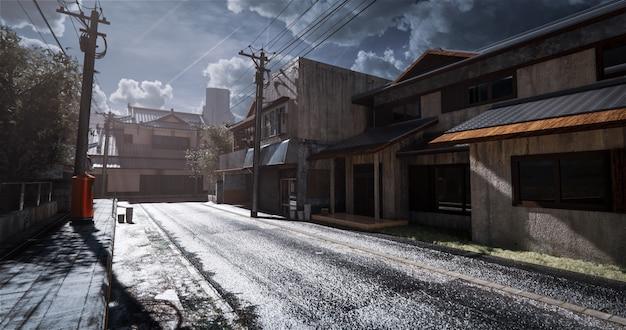 Realistyczny japoński model domu w starym stylu