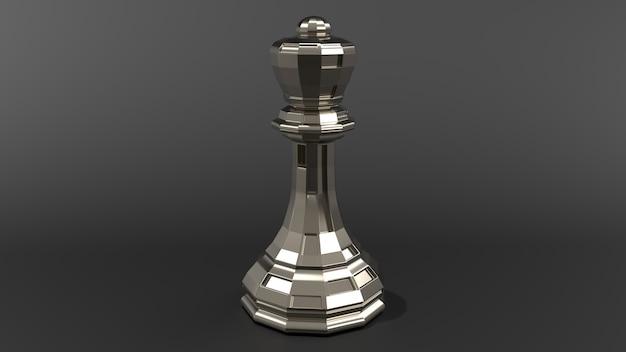 Realistyczny kawałek szachowy renderowania 3d