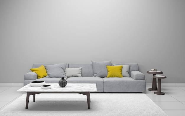 Realistyczny salon 3d wnętrze